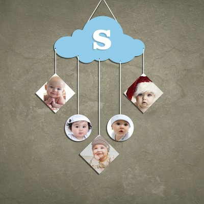 Cloud 5 Pic Personalized Photo Wall Hanging
