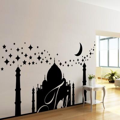 Taj Mahal Wall Sticker Decal-Small-Black