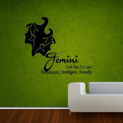 Gemini Wall Sticker Decal-Small-Black