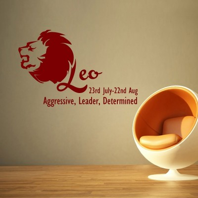 Leo Wall Sticker Decal-Small-Burgundy