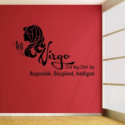 Virgo Wall Sticker Decal-Small-Black