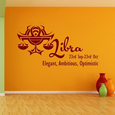 Libra Wall Sticker Decal-Small-Burgundy
