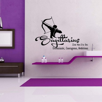 Sagittarius Wall Sticker Decal-Small-Black