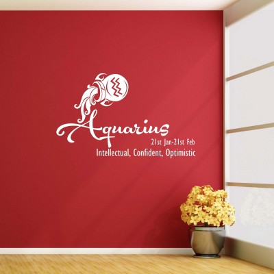 Aquarius Wall Sticker Decal-Small-White